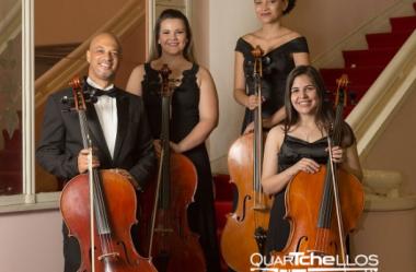 Violoncelos no Concerto de Abril do Projeto MusiCâmara